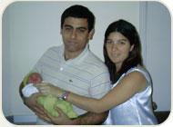 Claudia, Diego y Eduardo