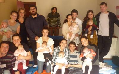 Fotos del taller de masaje Shantala de octubre