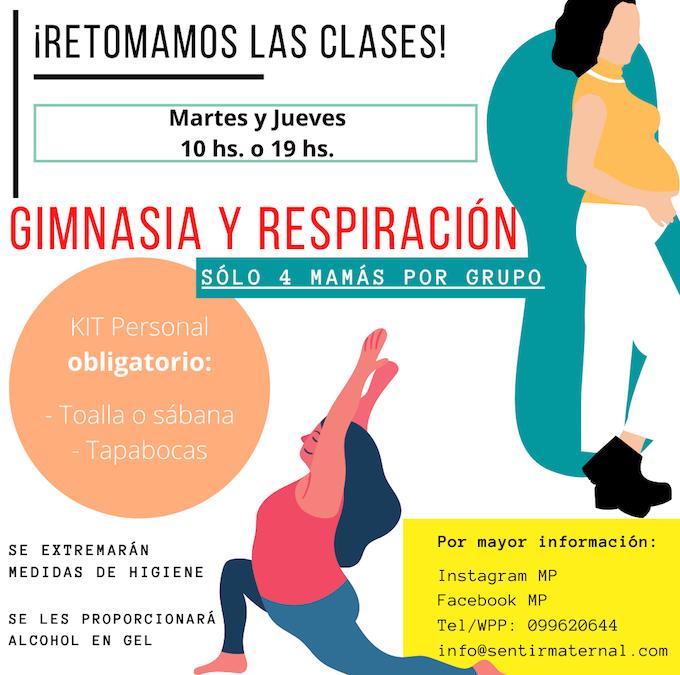 RETOMAMOS CLASES DE GIMNASIA Y RESPIRACIÓN